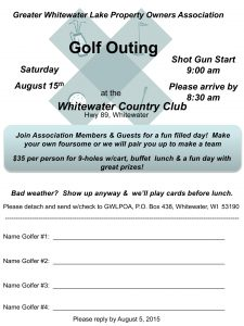 2015 golf outing flyer