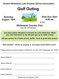 2014 fall golf outing flyer