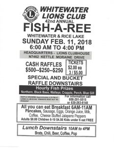 Whitewater - Rice Lake Lions Club Ice Fish a Ree 2018